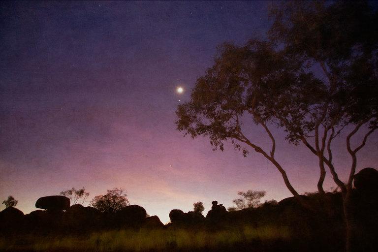 Night at Devil's Marbles