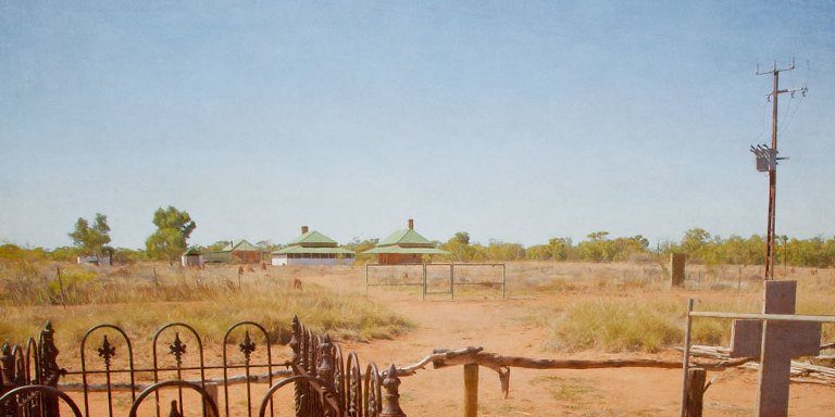 Tennant Creek Telegraph Station buildings viewed from the cemetery