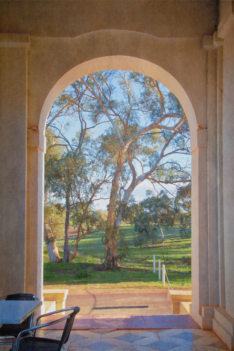 View from the New Norcia Hotel verandah
