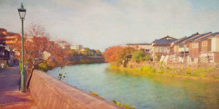View along Asanogawa River