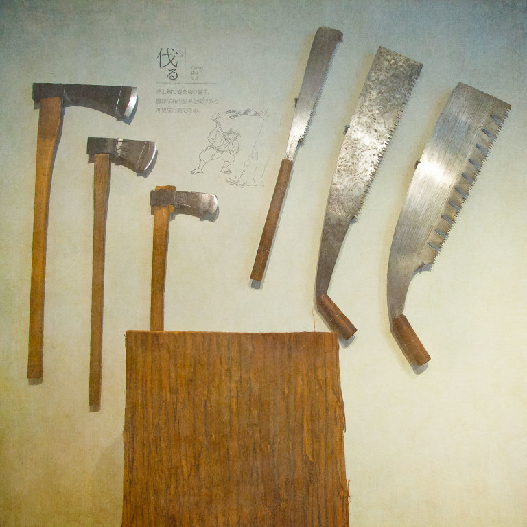 Woodworking tools - axes and saws